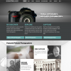 Photography Website with Laser Focus: a single product line