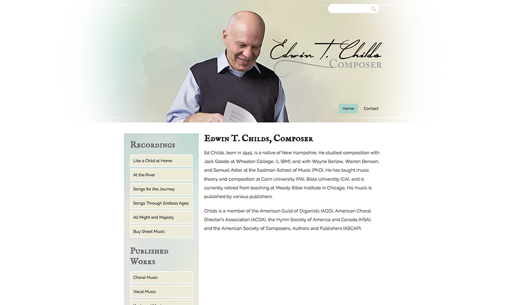 Edwin T. Childs web design