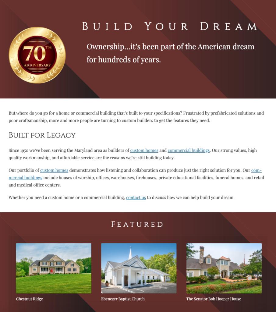 Jarrettsville Builders home page 2