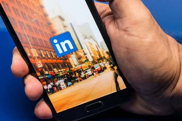 LinkedIn on mobile device