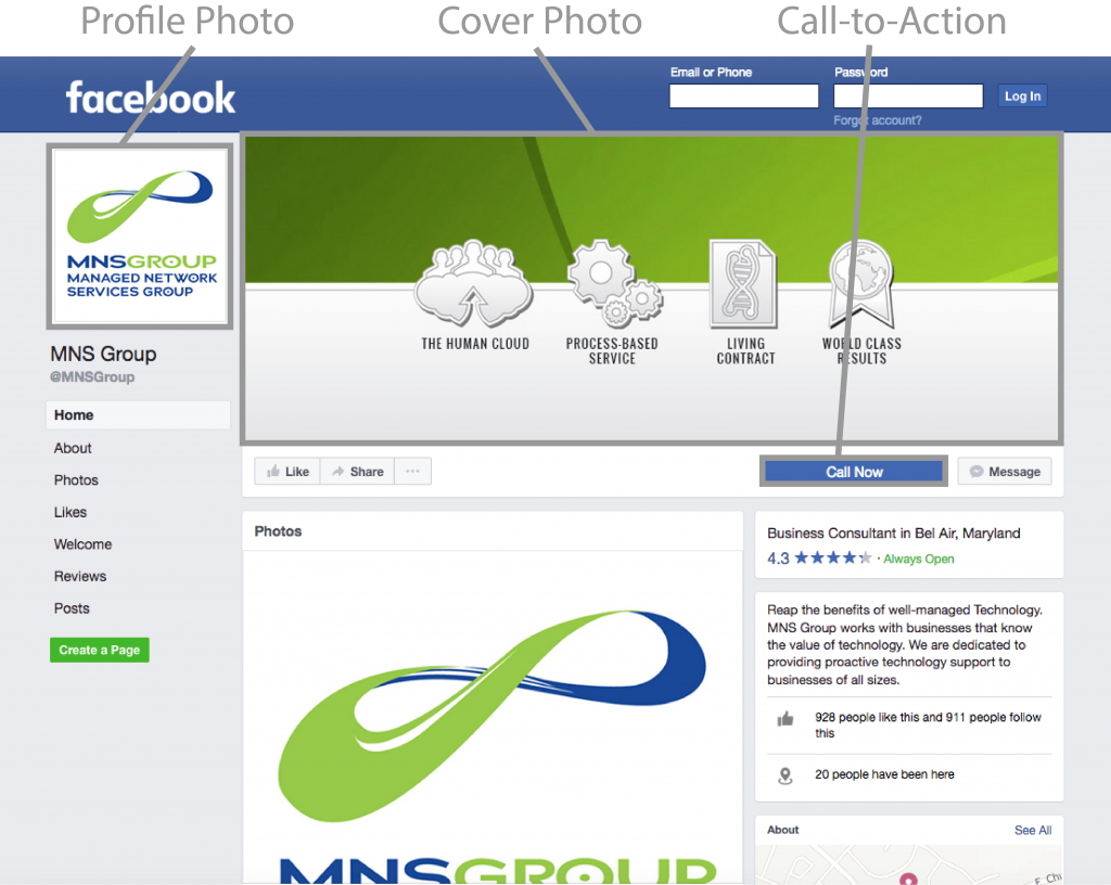 Facebook company profile - If We Ve Already Done Design Work For You We Can Even Repurpose It For Facebook Like We Did For This Managed It Services Company