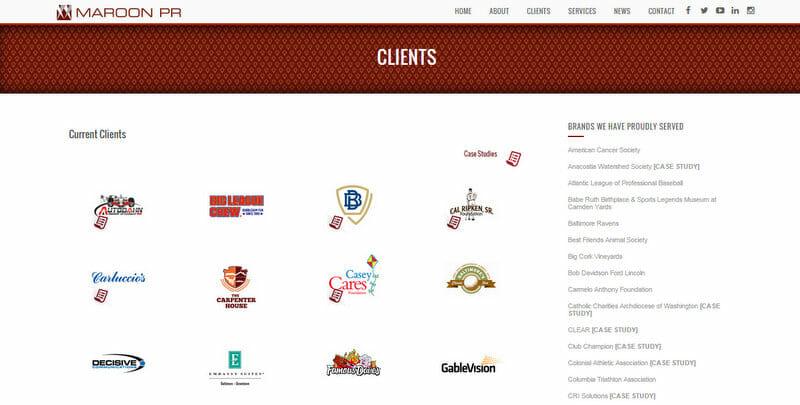 Maroon PR clients