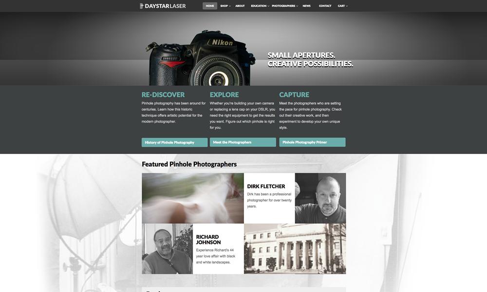 Daystar Laser web design