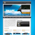 iRF's new home page highlights their customizable, modular design capabilities.