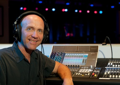 Doug with his audio setup